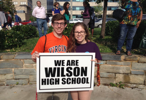 Woodrow Wison HS students hold rally