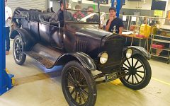 1924 Model T Touring car in Auto Shop