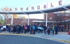 Students participate in peaceful protest