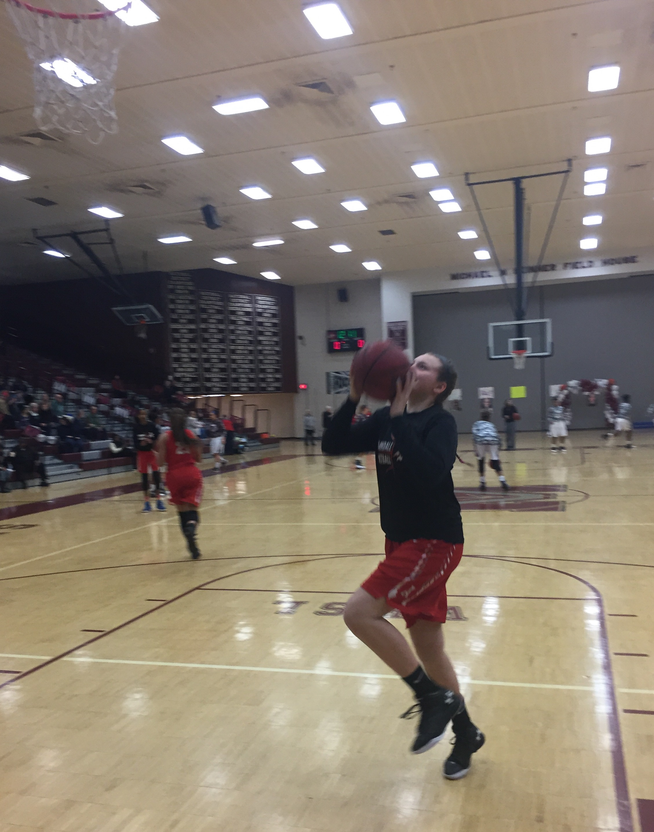 Junior Grace Hatch goes up for a layup before the game against the Majors on Feb. 10.