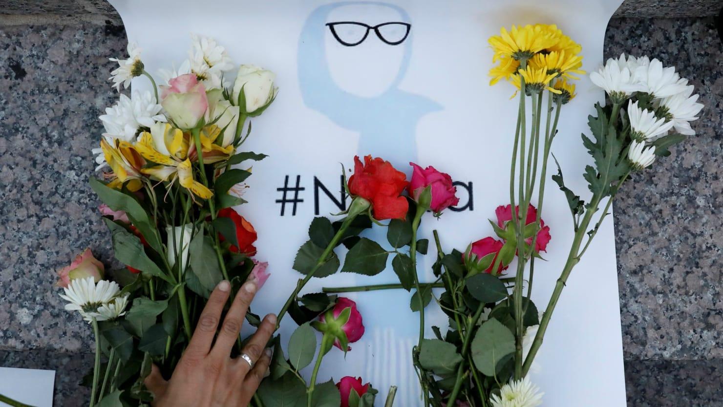 Memorial+of+Nabra+Hassanen+in+DuPont+Circle+in+Washington+D.C..