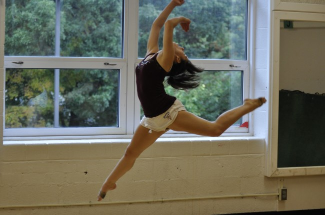 Despite the challenges and obstacles that teenagers suffering from scoliosis must face, many are still able to do what they love, such as sophomore dancer Aine Kohler above.