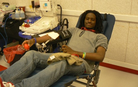 Students donate blood for a cause