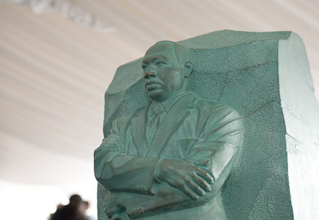 The Martin Luther King, Jr. Memorial in Washington, D.C. is a popular place to celebrate MLK Day despite the fact that many students do not personally observe the federal holiday.