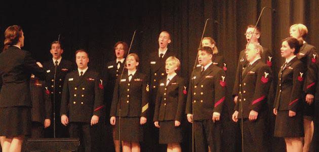 Navy Sea Chanters perform at AHS