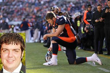 In trouble for 'tebowing'?