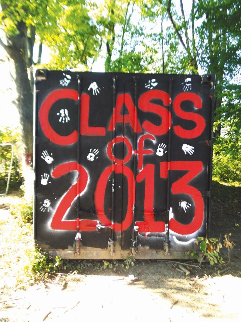The C-train that was painted by the Class of 2013 during the summer by the class officers and around 20 fellow seniors.