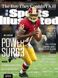 Robert Griffin III is currently on the cover of Sports Illustrated for the month of September.