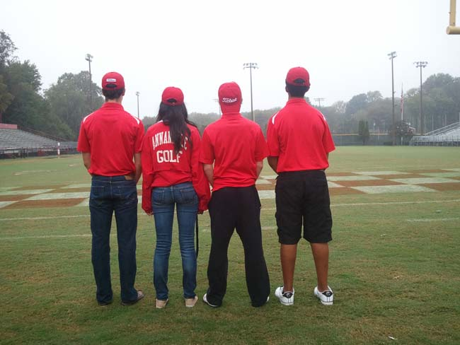 Females are often underrepresented in high school sports, especially on the AHS golf team, where there is only one girl.