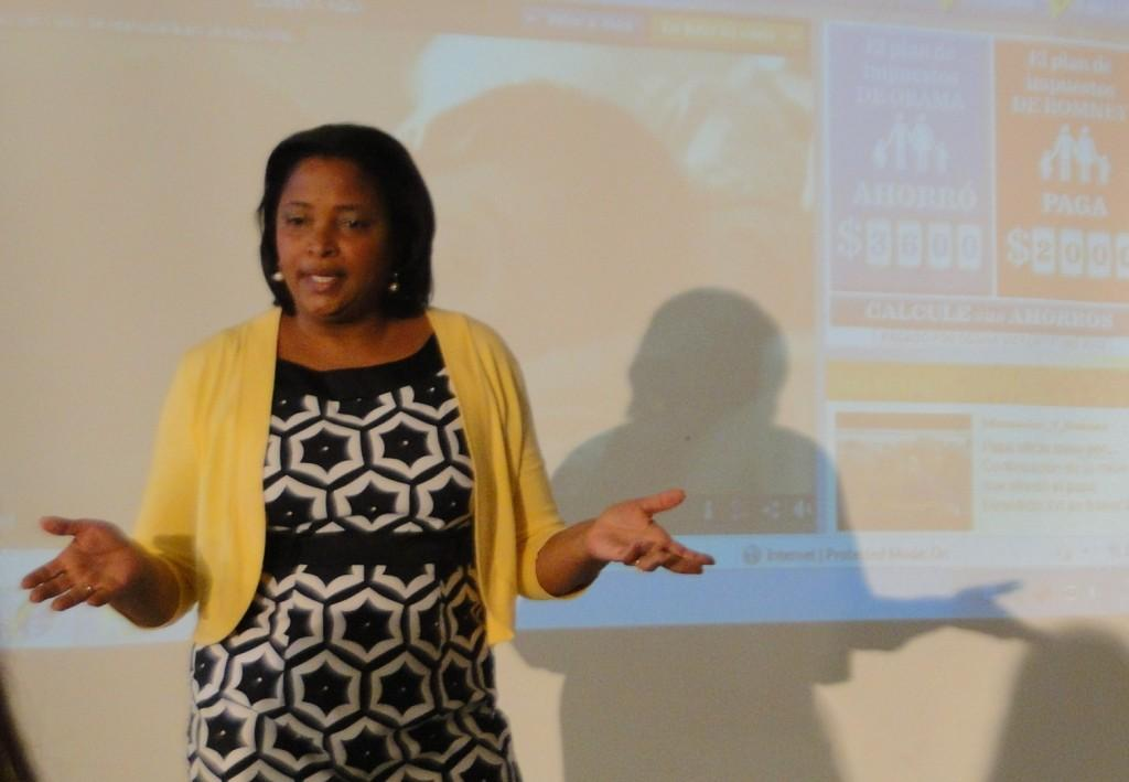 Journalist Lori Montenegro spoke to students about broadcast journalism and political bias in the media.