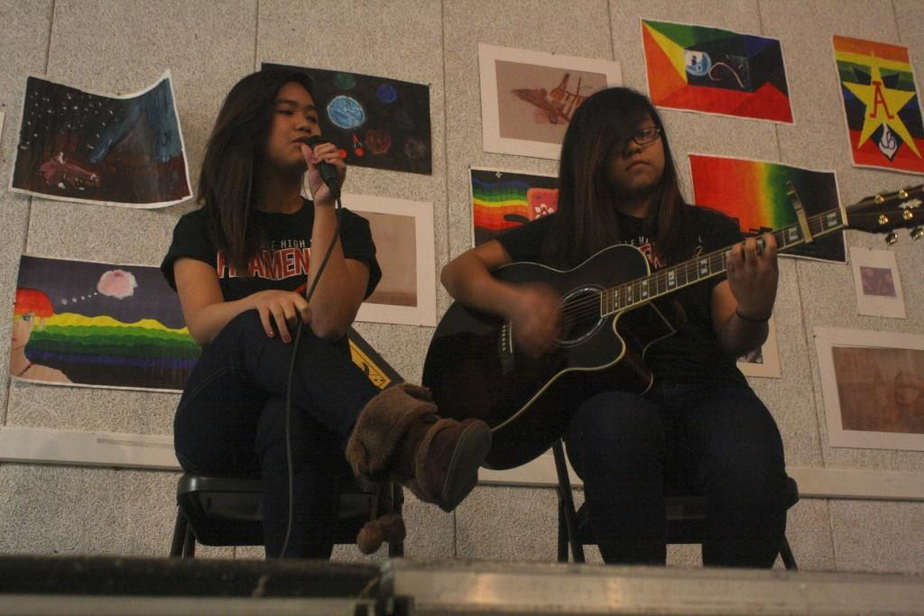 Several+students+played+guitar+and+sang+in+duets.
