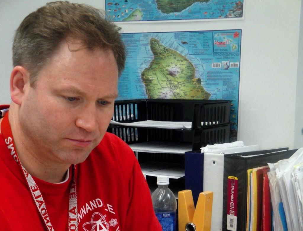 History teacher Joel Jepson is the sponsor for this year's Friday Morning DJ's.