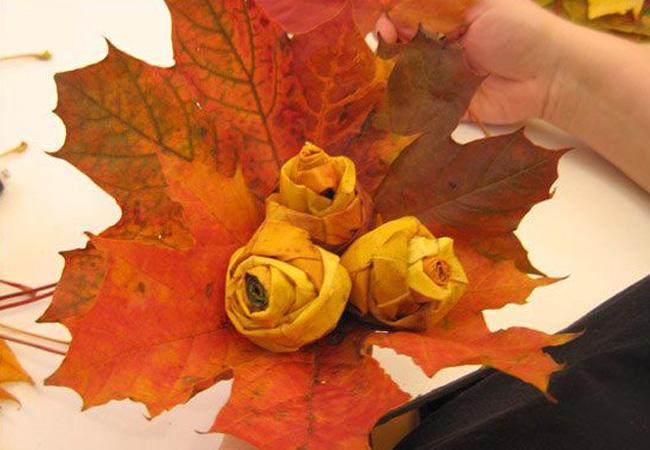 DIY: Leaf Rose Bouquet
