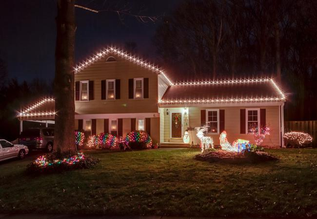 Business teacher Monica Bentley is the winner of this year's Holiday Lights Contest.