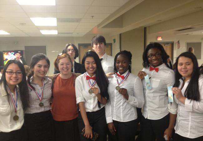 The+Forensics+and+Debate+team+competed+at+Edison+HS+on+Dec.+19.+