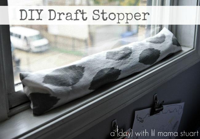 Cute DIY draft stopper