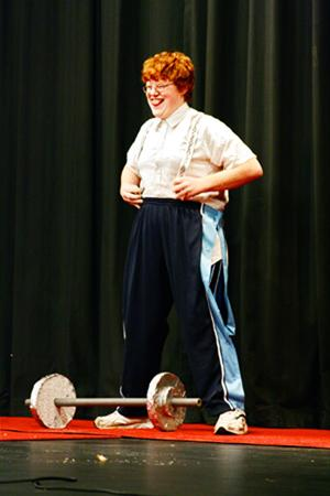 Senior Andrew Riddle performs in the