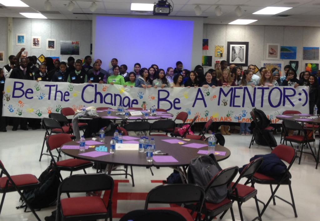 Potential mentors at the county-wide workshop that was held at AHS.