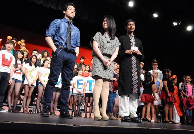 Alumnus Rajasak Leksang, junior Amelie Trieu and junior Elisha Musih were hosts for last year's Heritage Night.