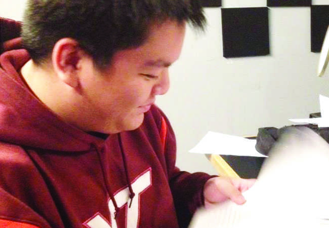 Senior Kevin Tran is going to be doing the after school remediation for two hours every day until SOL testing in May.