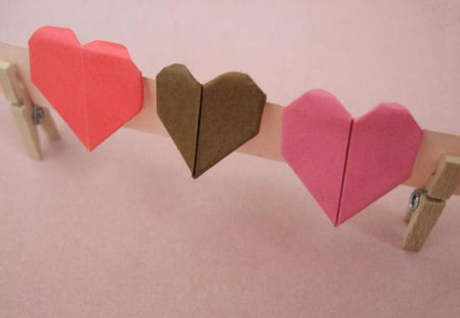 Origami love letters and rings