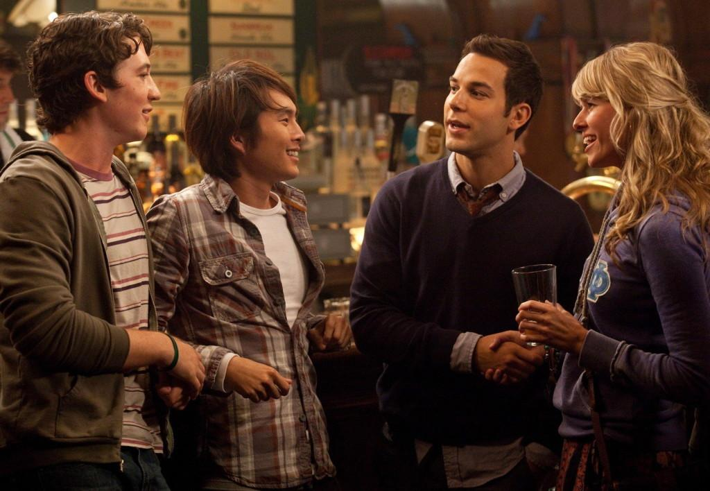 Miles Teller, Justin Chon, Skylar Astin and Sarah Wright star in '21 and Over' as college students whose night turns upside down quickly.