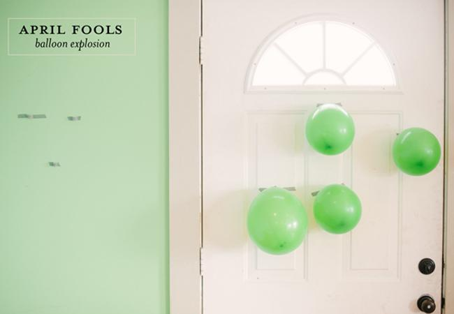 April Fools Balloon Explosion