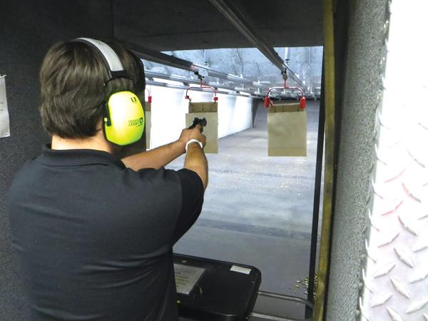 A day of shooting at the range