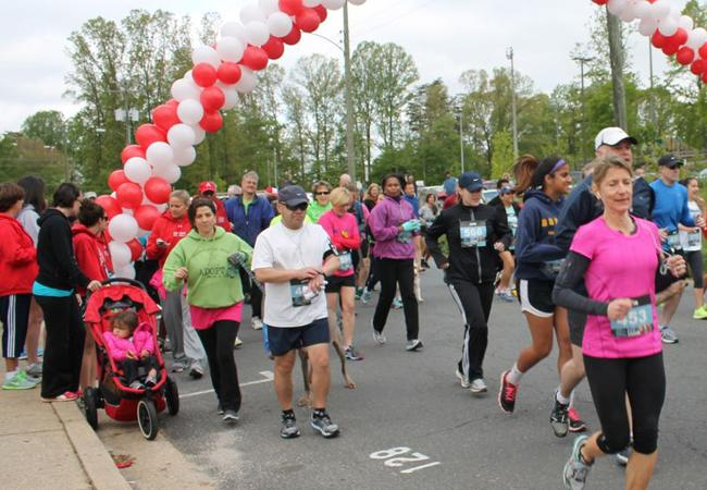 Students and members of the community participated in the annual Annandale 5K.
