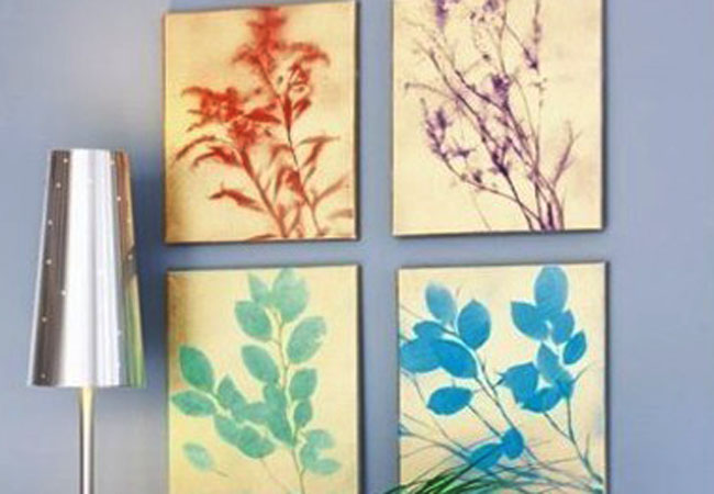 Carefully remove your leaves or flowers and let the canvas dry. Once dried, you can hang your DIY botanical art.