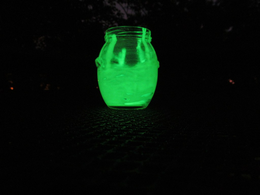Let your dried jars sit directly under a light source for a little while so the paint has time to