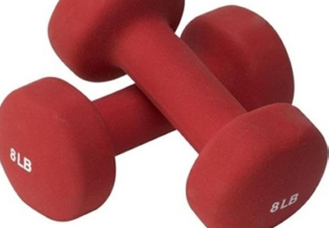 Hand weights are necessary for some of these exercises.