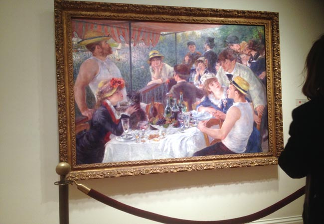 Above is a painting by Pierre-Auguste Renoir titled