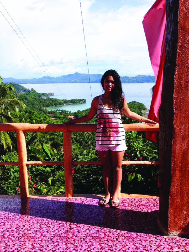 Student affected by Typhoon Haiyan