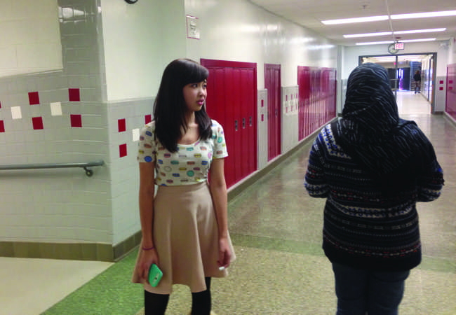 Many students, specifically girls wearing hijabs have been discriminated.
