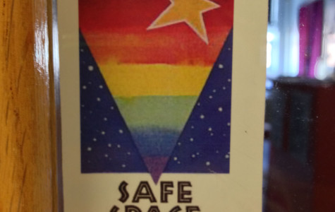 Safe Space stickers fill of halls