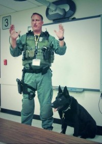 Drug-sniffing dogs were brought into the school for routine drug searches.