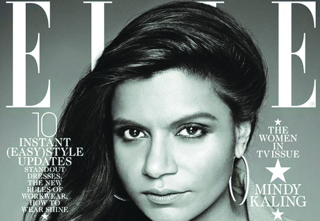 Mindy Kaling on the recent Februaury issue of Elle magazine