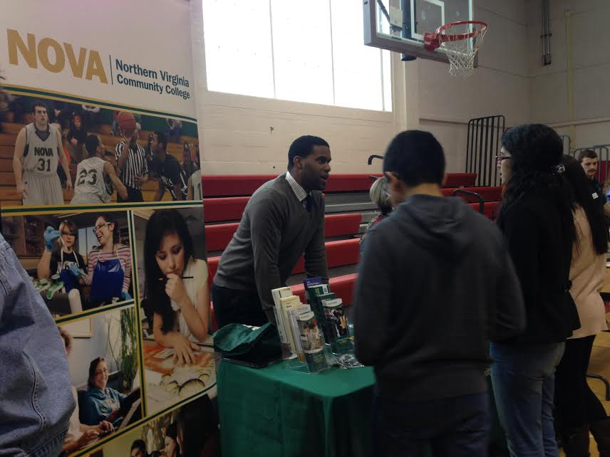 A NOVA school representative talked to perspective students about the opportunities at the school.