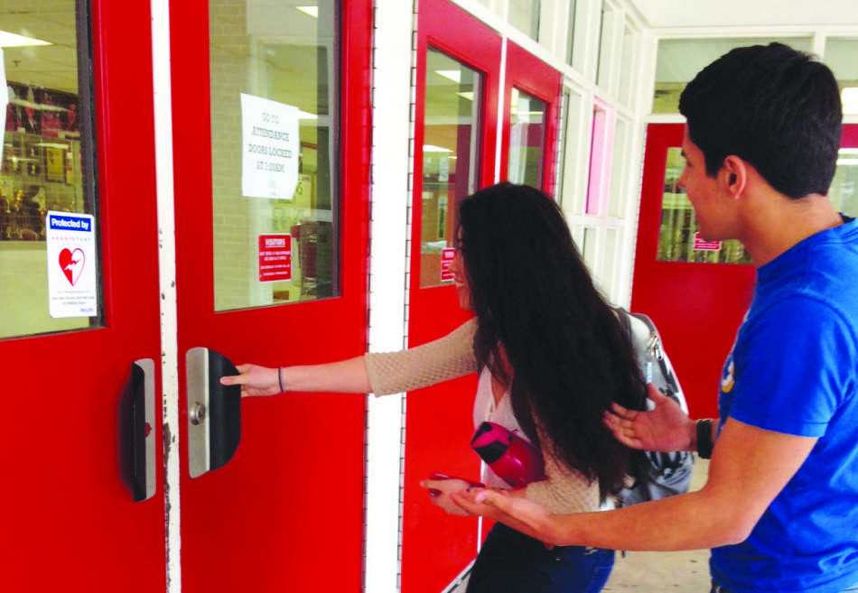 All students who arrive to school after 7:30 a.m.  must report to the front lobby, as all over doors will be locked.
