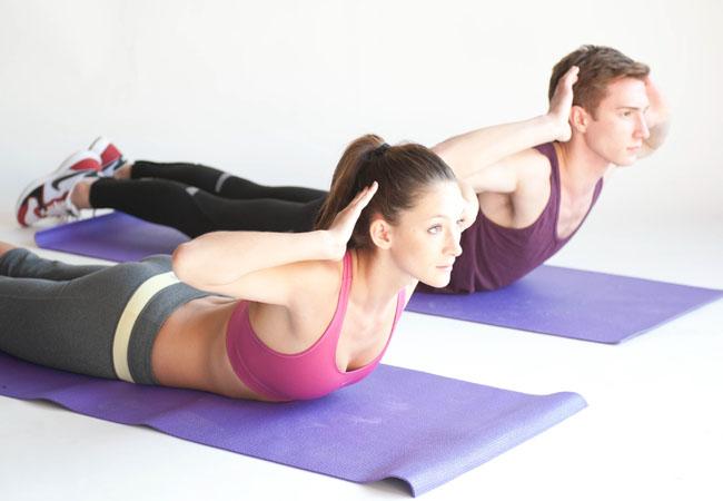 Superman position exercises.