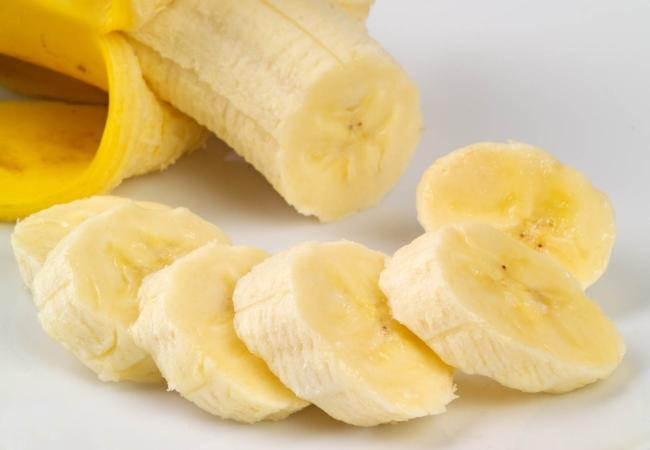 Banana used for the face mask.