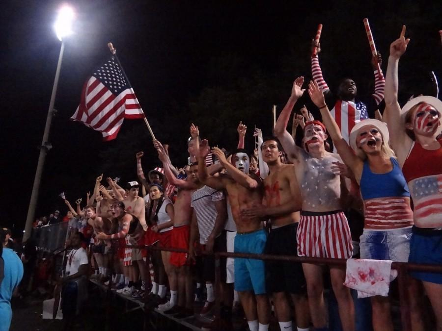 AHS+students+paint+themselves+for+an+America+out