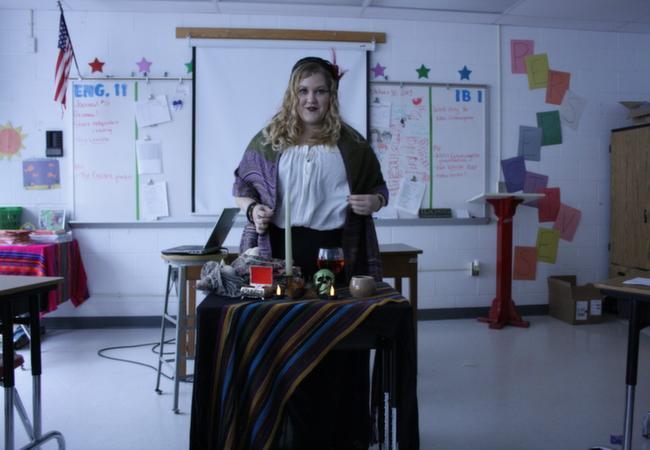 Staff member Julia Hannamen dresses up as an Obel woman. - See more at: https://www.thea-blast.org/news/2013/11/01/33926/#sthash.e05XpLpa.dpuf