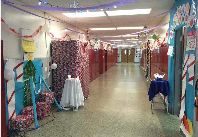 DECA's hallway near the auditorium came in second.