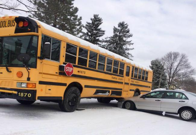Many AHS students were late to school because they were involved in accidents or were delayed by the inclement weather.