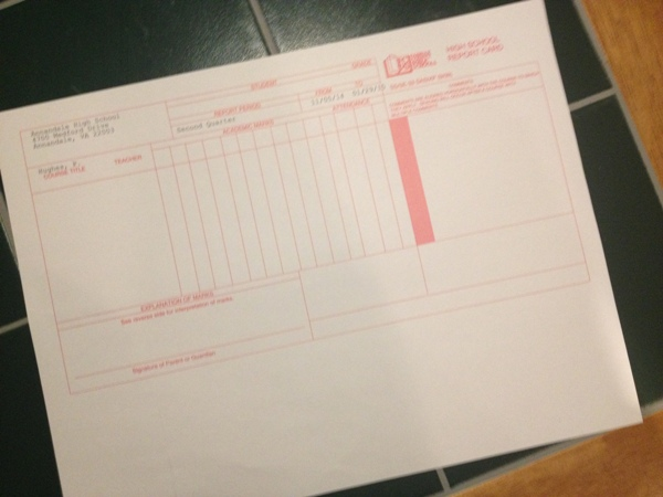 Student report cards were released during W4 today.