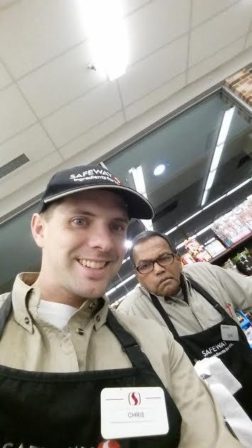 English teacher Chris Bagot has been working at Safeway since his junior year at AHS