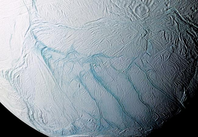 Enceladus, a moon of Jupiter, is an