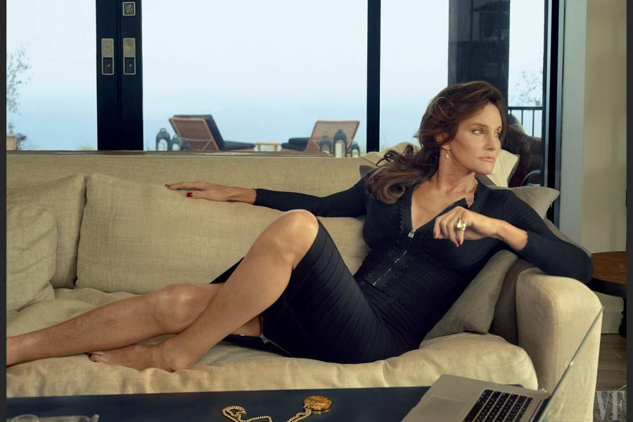 Caitlyn Jenner poses for her photo shoot with Vanity Fair